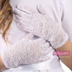 Koronkowe rękawiczki komunijne RK89