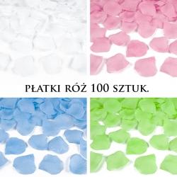 Płatki róż z materiału, różne kolory 100szt.