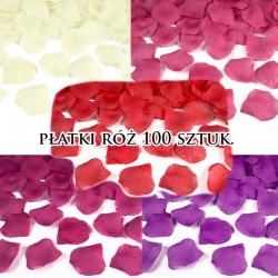 Płatki róż z materiału różne kolory op. 100szt.
