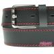 Czarny pasek do spodni z czerwonym przeszyciem PS2