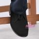 Buty komunijne chłopięce czarne nubuk OM14