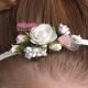 Opaska do włosów jak żywa z dodatkiem zieleni i różu OW61