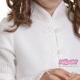biały sweter dziewczęcy