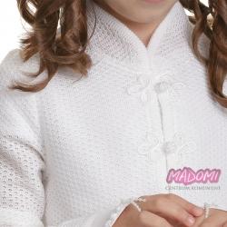 Sweter dziewczęcy biały komunijny SW35