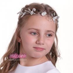 Gałązka do włosów z perełkami i kryształkami WMG02-18