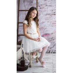 Sukienka dziewczęca kremowa model Astra