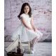 Kremowa sukienka dla dziewczynki model Almira
