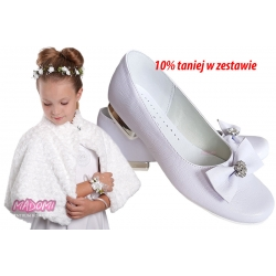 Zestaw komunijny buty baleriny OM800 i peleryna PKC45
