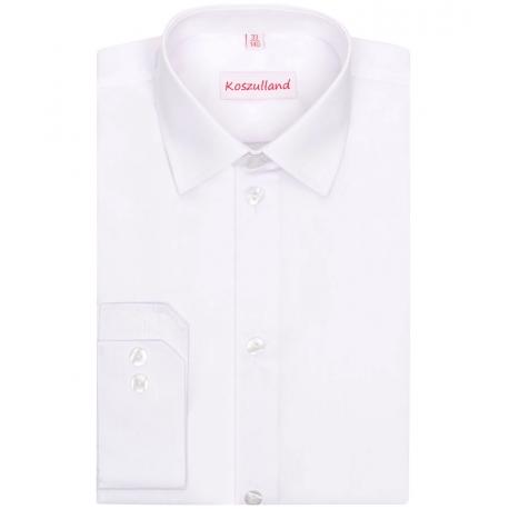 Biała koszula chłopięca slimowana 95% bawełny KSZ03