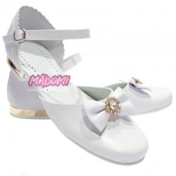 Buty komunijne dziewczęce obuwie dla dziewczynki OM674