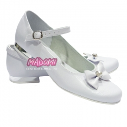 Buty komunijne dla dziewczynki baleriny OM806