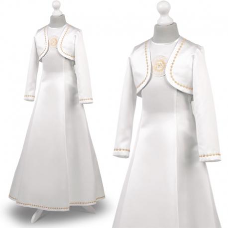 Sukienka komunijna alba sukienki komunijne alby model Celinka 64ZŁ