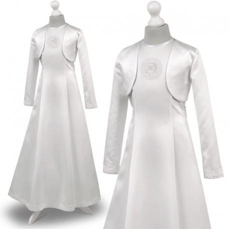 Sukienka komunijne alba sukienki komunijne alby model Cellinka 54BI