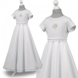 Sukienka komunijne alba sukienki komunijne alby model Marta 16SR
