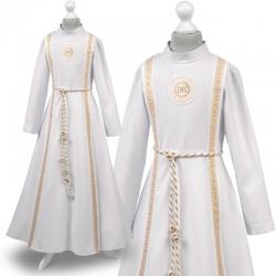 Sukienka komunijne alba sukienki komunijne alby model Zuzia14ZL