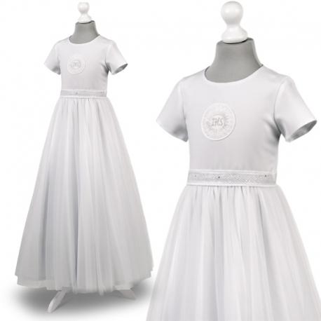 Sukienka komunijne alba sukienki komunijne alby model Tosia25SR