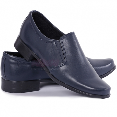 Obuwie komunijne buty chłopięce granatowe lico OM16