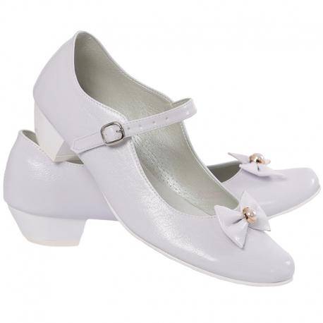 Obuwie komunijne dziewczęce buty do komunii OM901