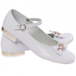 Baleriny komunijne dla dziewczynki buty obuwie OM805