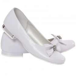 Buty komunijne dla dziewczynki baleriny MIKO OM800