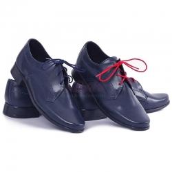 Buty komunijne dla chłopca lico granat OM12