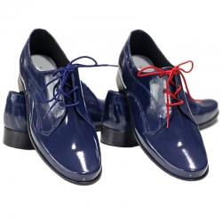 Buty komunijne dla chłopca lakierki OM15