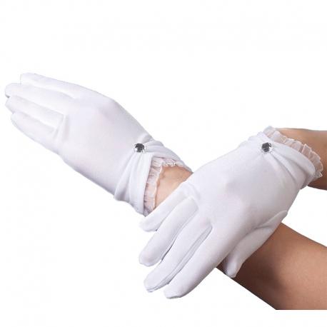 Rękawiczki komunijne pełne RKC58