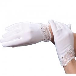 Rękawiczki pełne z koronką RKC62