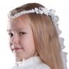 Białe wianki komunijne szpic WM71