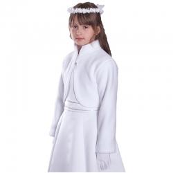 Białe bolerka polarowe dla dziewczynek BKM07