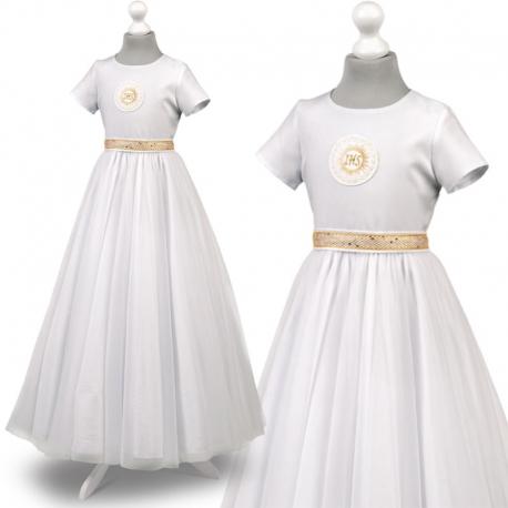 Sukienka komunijne alba sukienki komunijne alby model Tosia25ZL