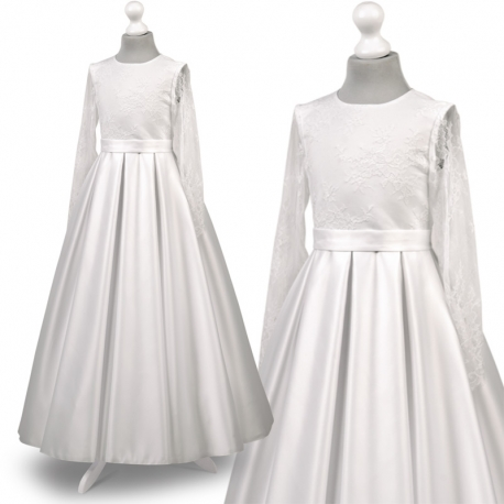 5d945ce3c6 Nowe Sukienka komunijne alba sukienki komunijne alby model Elza00BI