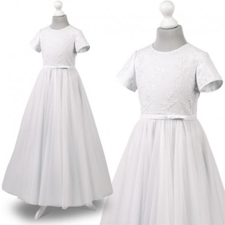 Sukienka komunijne alba sukienki komunijne alby model Tosia65BI