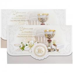 Zaproszenia komunijne dla babci i dziadka 2szt. ZS02K-12180-0035BDO