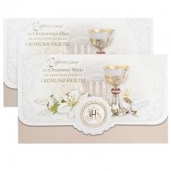 Zaproszenia komunijne dla chrzestnych 2szt. ZS02K-12180-0035MO