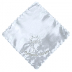 Chusteczka komunijne biała CK28