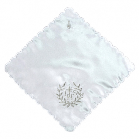 Chusteczka komunijne biała CK01
