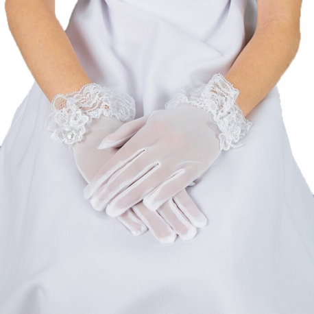 Rękawiczki komunijne do Pierwszej Komunii Świętej RK19
