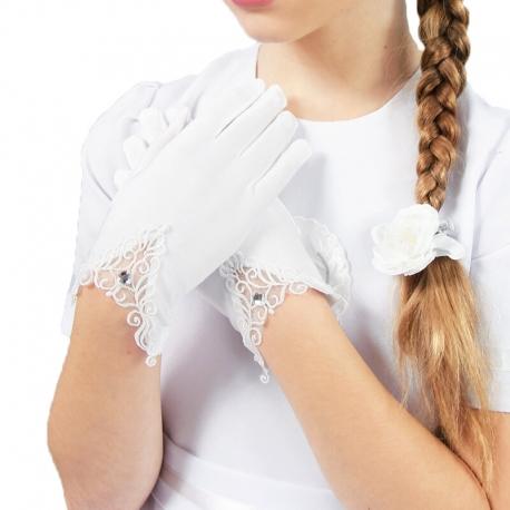 Rękawiczki komunijne do Pierwszej Komunii Świętej RK16
