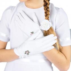 Rękawiczki komunijne do Pierwszej Komunii Świętej RK15