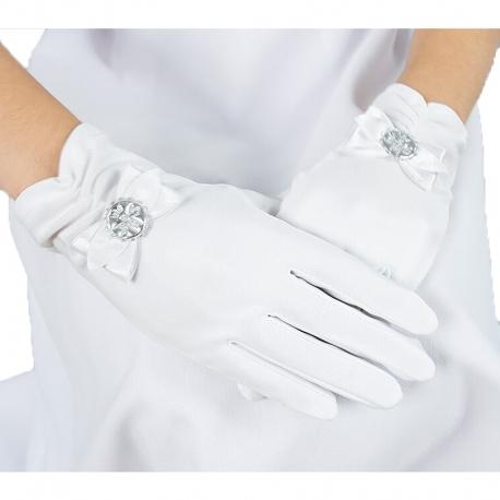 Rękawiczki komunijne do Pierwszej Komunii Świętej RK10