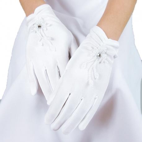Rękawiczki komunijne do Pierwszej Komunii Świętej RK07