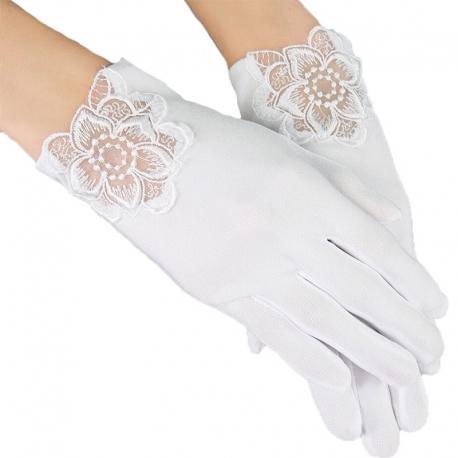 Rękawiczki komunijne do Pierwszej Komunii Świętej RK35