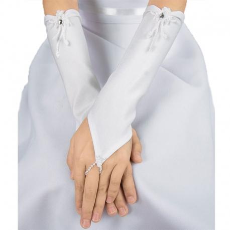 Rękawiczki komunijne do Pierwszej Komunii Świętej RK37