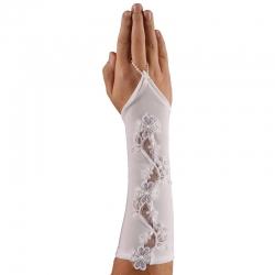 Rękawiczki komunijne długie na palca midi RK49
