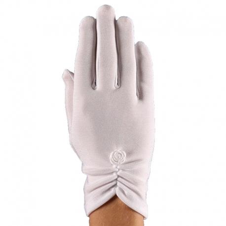 Rękawiczki komunijne białe pełne RK06