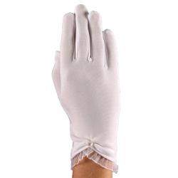 Rękawiczki komunijne białe pełne RK22
