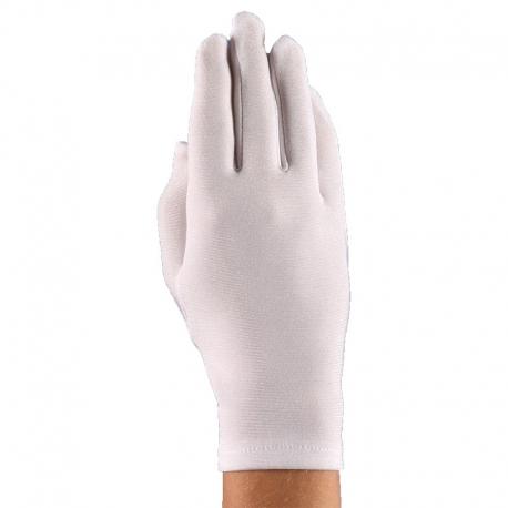 Rękawiczki komunijne pełne gładkie białe RK28
