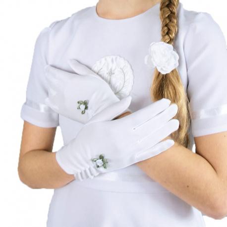 Rękawiczki komunijne pełne RK14