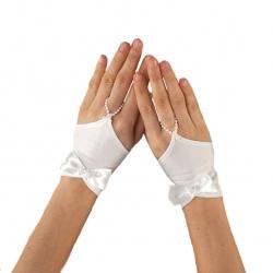 Rękawiczki komunijne do Pierwszej Komunii Świętej RKC64